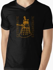 Exterminate Classic Doctor Who Dalek Graphic Mens V-Neck T-Shirt