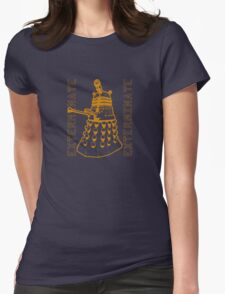 Exterminate Classic Doctor Who Dalek Graphic Womens Fitted T-Shirt