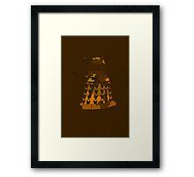 Funky Camo Sneaky Dalek Framed Print