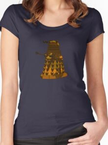 Funky Camo Sneaky Dalek Women's Fitted Scoop T-Shirt