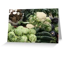 Yucca Cucumbers Lettuce and Cauliflower Greeting Card