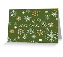 To Grandad At Christmas Greeting With Snowflakes  Greeting Card