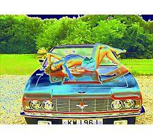 Photo Study 'Topless Girl on Aston Martin' Photographic Print
