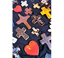 Hearts and Crosses Photographic Print