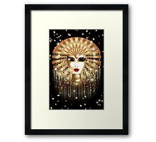 Golden Venice Carnival Mask  Framed Print