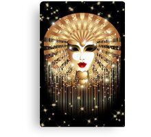 Golden Venice Carnival Mask  Canvas Print