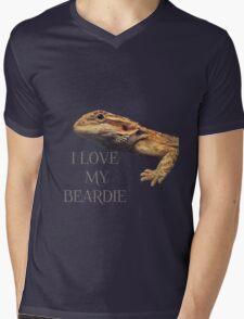 i LOVE MY BEARDIE Mens V-Neck T-Shirt