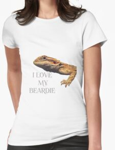 i LOVE MY BEARDIE Womens Fitted T-Shirt