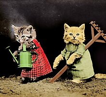 Cat Gardeners by Vintage Designs
