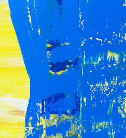 Abstract Blue and Yellow Sticker