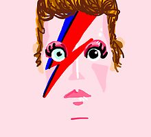 Aladdin Sane - David Bowie by Genozo