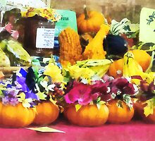 Mini Pumpkins and Gourds at Farmer's Market by Susan Savad