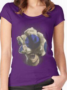 Mushroom Kingdom clicker [Blue] - Mario / The Last of Us Women's Fitted Scoop T-Shirt