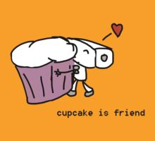 cupcake is friend by gabe-o-matic