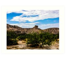The View From My Car In Arizona 1 Art Print