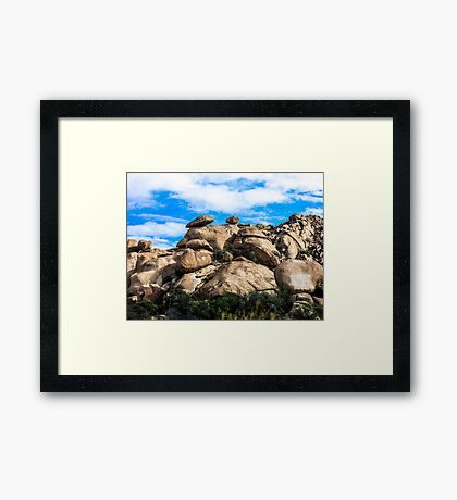 The View From My Car In Arizona 3 Framed Print