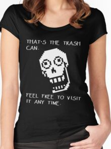 Undertale - Papyrus SHIRT - Trash Can Women's Fitted Scoop T-Shirt