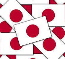 Smartphone Case - Flag of Japan Multiple II by Mark Podger