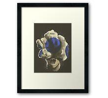Mushroom Kingdom clicker [Blue] - Mario / The Last of Us Framed Print