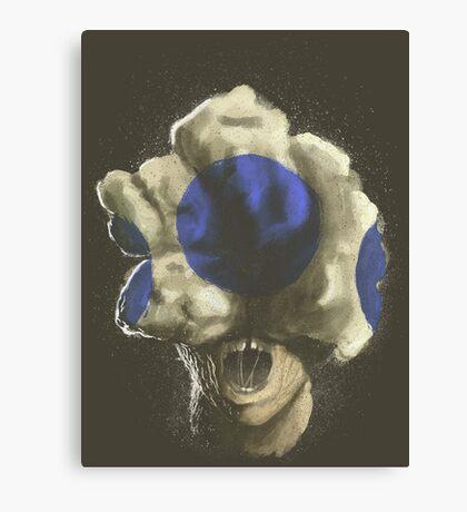 Mushroom Kingdom clicker [Blue] - Mario / The Last of Us Canvas Print