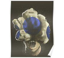 Mushroom Kingdom clicker [Blue] - Mario / The Last of Us Poster
