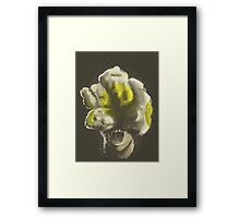 Mushroom Kingdom clicker [Yellow] - Mario / The Last of Us Framed Print