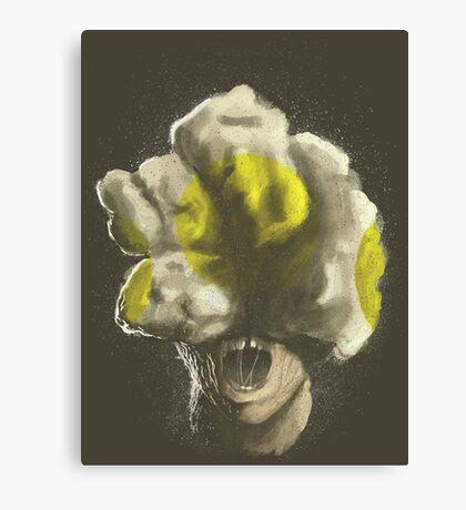 Mushroom Kingdom clicker [Yellow] - Mario / The Last of Us Canvas Print