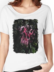 Pink Roses in Anzures 6 Letters 1 Women's Relaxed Fit T-Shirt