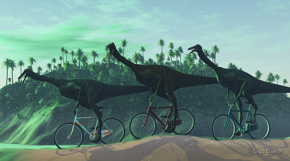 Gallimimus On Bikes by Syd Baker