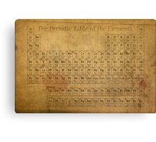Periodic Table of the Elements Vintage Chart on Worn Stained Distressed Canvas Canvas Print