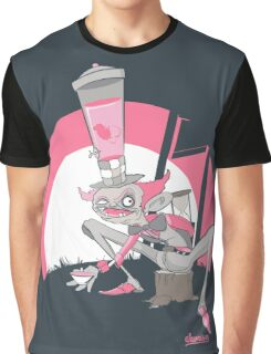 Mad Hatter Tea Party Graffiti Character Graphic T-Shirt