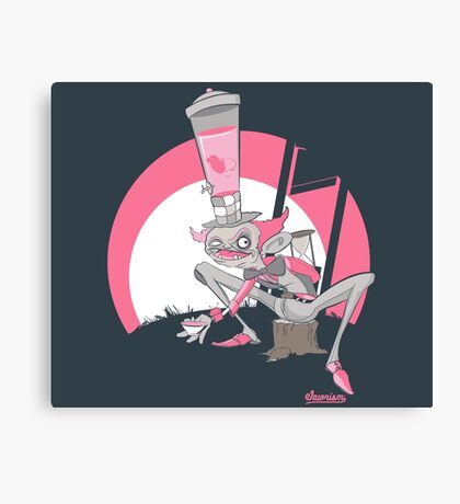 Mad Hatter Tea Party Graffiti Character Canvas Print