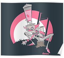 Mad Hatter Tea Party Graffiti Character Poster