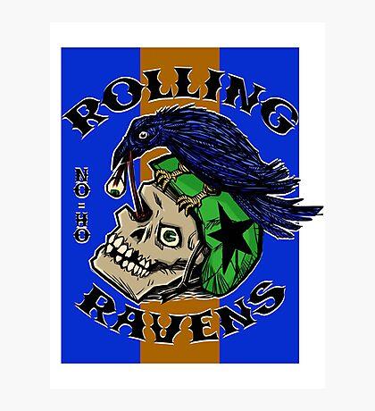 Rolling Ravens Logo Photographic Print