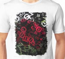 Red Rose Edges Letters 3 Unisex T-Shirt
