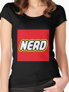 Playful Nerd  Women's Fitted Scoop T-Shirt