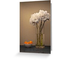 Peonies and Apricots Greeting Card