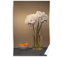 Peonies and Apricots Poster