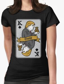 Donald Trump Card Womens Fitted T-Shirt