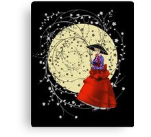 Girl In Flowers Canvas Print