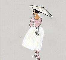 Art Illustration - Young ballerina by Marikohandemade