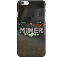Minecraft Miner Shirt iPhone Case/Skin