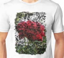 Red Rose with Light 1 Letters 2 Unisex T-Shirt