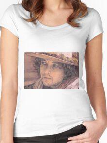 BOB DYLAN PORTRAIT Women's Fitted Scoop T-Shirt