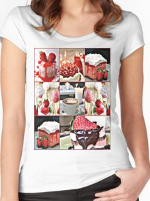 strawberry field Women's Fitted Scoop T-Shirt