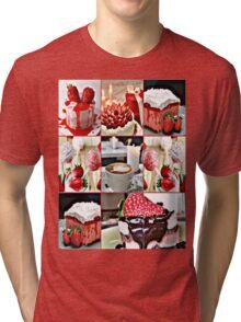 strawberry field Tri-blend T-Shirt