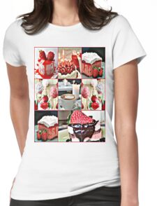strawberry field Womens Fitted T-Shirt