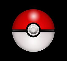 Pokeball Black - iPhone by keirrajs