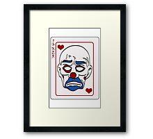 Joker Calling Card - Hand Drawn Framed Print