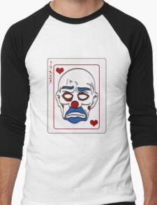 Joker Calling Card - Hand Drawn Men's Baseball ¾ T-Shirt